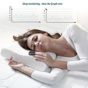 Image 4 - Finger Pulse Fingertip Oled Portable Oximeter SPO2 PR PI 8 hours sleep monitor Blood Oxygen Oximetro pediatrico De Dedo a case
