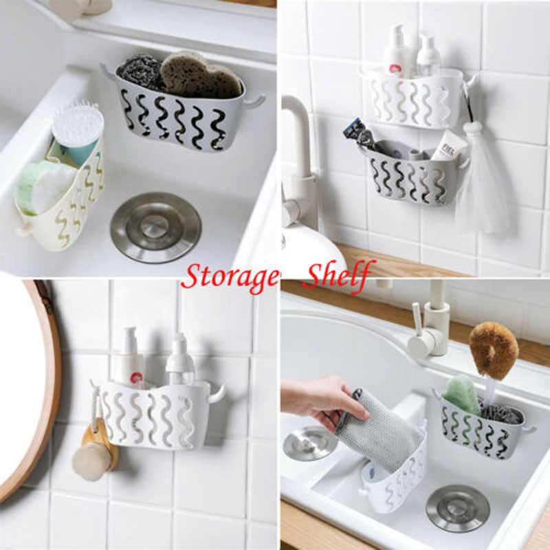 Kitchen Sink Caddy Sponge Holder Storage Organizer Soap Drainer Rack Strainer