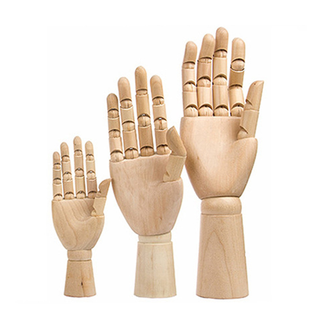 Mannequin Model Wooden Palm Birthday Gift Desktop Decoration Home Decor Hand Manual Limb Wooden Mannequin