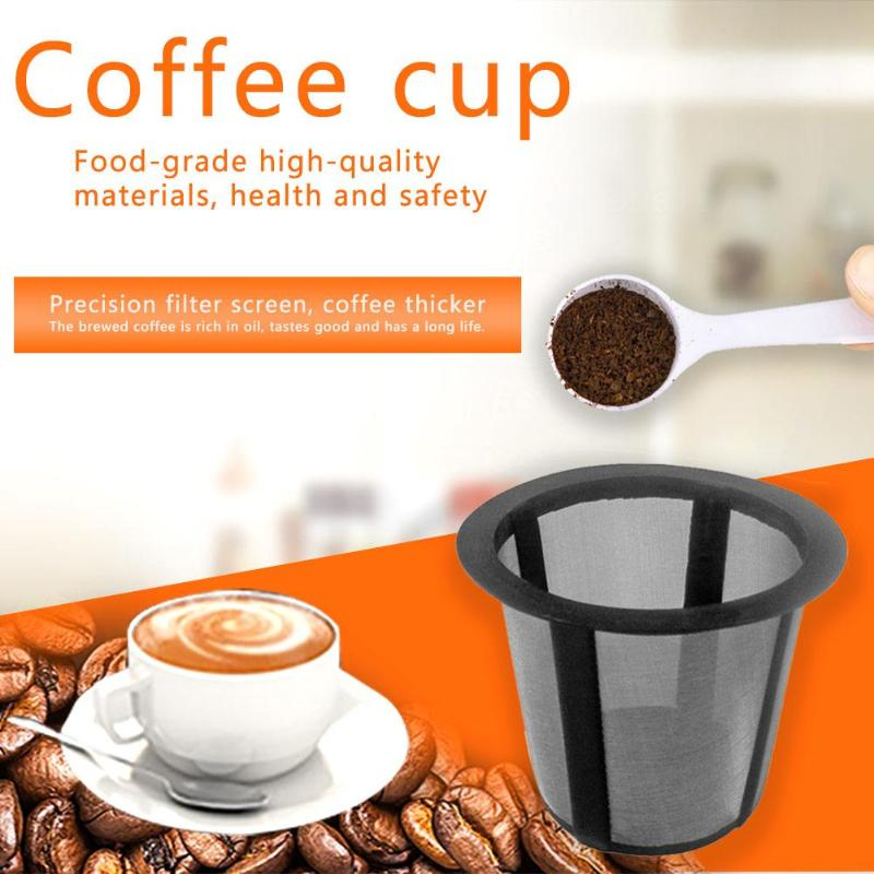 Reusable Coffee Filter Refillable Coffee Capsule Compatible With Keurig K Cup Coffee System Coffee&Tea Pod Filters Dropshipping