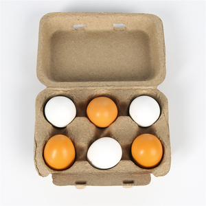 Image 1 - 6PCS Baby Kids Pretend Play Educational Toy Wooden Eggs Yolk Kitchen Cooking