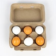 Juego de simulación educativo para niños, yema de huevo de madera, cocina, 6 uds.