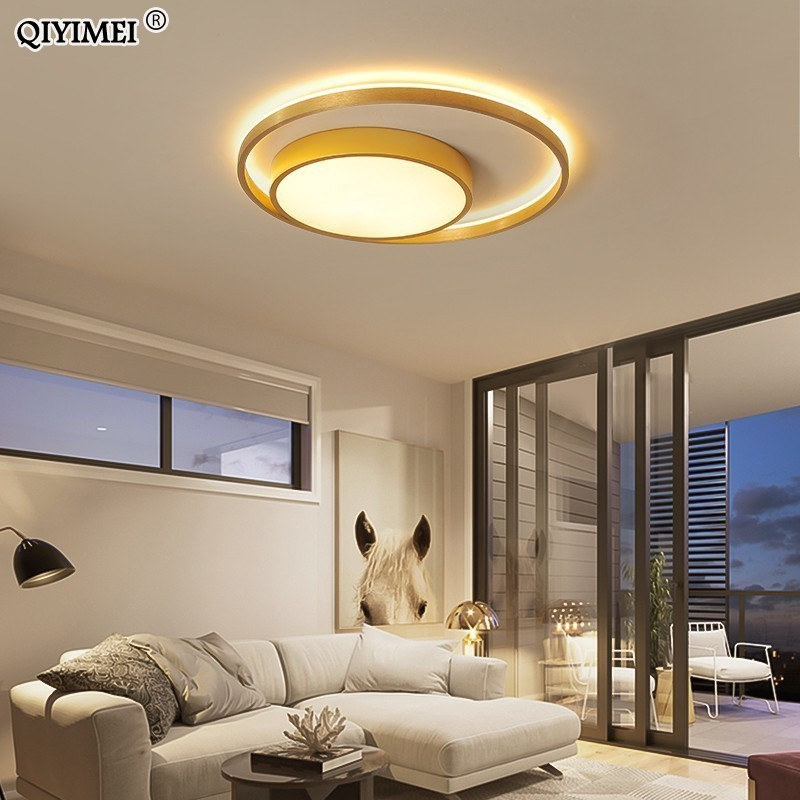 Gold  Coffee Finnished Led Ceiling Lights Living Room Bedroom  Remote Control Lamparas De Techo Moderna Indoor Home FixturesGold  Coffee Finnished Led Ceiling Lights Living Room Bedroom  Remote Control Lamparas De Techo Moderna Indoor Home Fixtures