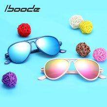 Iboode-gafas de sol de moda para niños y niñas, anteojos de sol femeninos de Color caramelo, anti-uv400