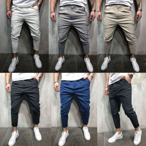 Men Pencil Jogger Slim Fashion Pants Urban Straight Leg Trouser 2018 New Casual Solid Pants Outwear Hot M-2XL