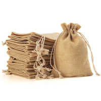 100piece Burlap Bags with Drawstring Gift Bags for Wedding Party ,Arts & Crafts Projects, Presents, Snacks & Jewelry,Christmas