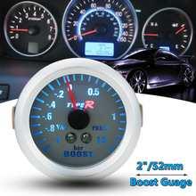 2 дюйма 52 мм белый синий Phantom Для указателя Turbo Boost вакуумметр Gauge-1 1,5 бар 12 В