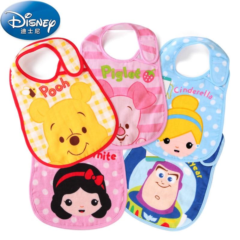 Disney Cartoon Mickey Baby Bibs Burp Cloths Cotton Babies Bib Kids Baberos Soft Breathable Newborns Towel Scarf