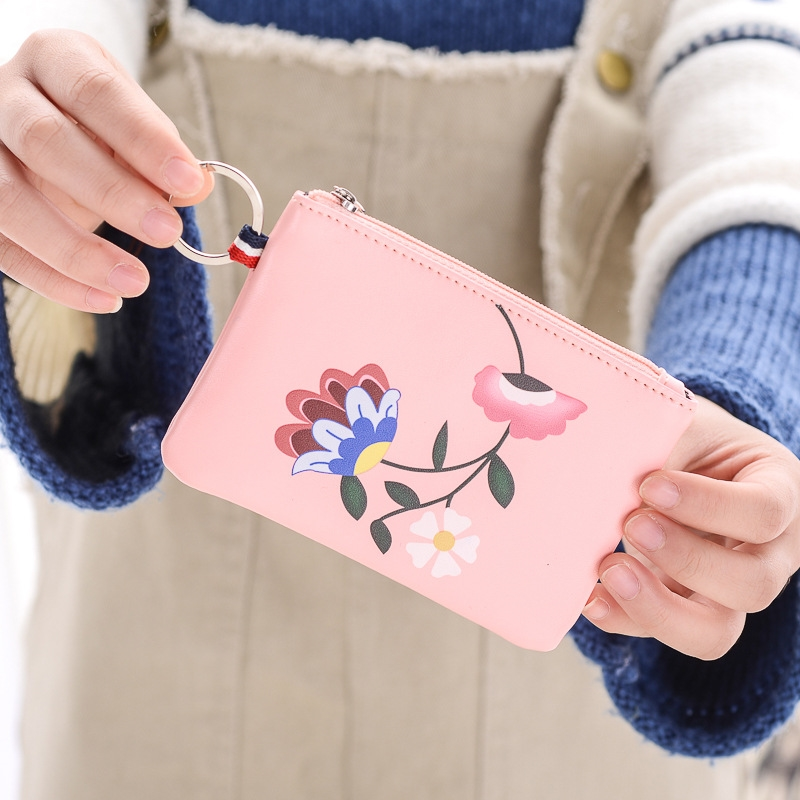 Short Small Wallet Korean Fashion Student Coin Purse Multi-Function Folding Key Bag