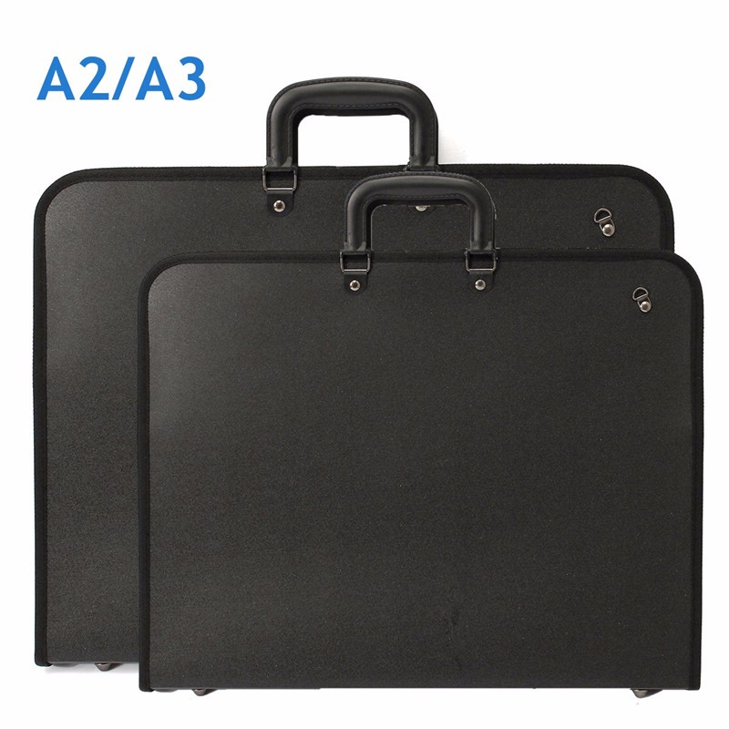 1pcs A2 A3 Vinyl Artist Portfolio Drawing Painting Storage File Folder Plastic Document Carry Case For Art Set Sketch Supplies