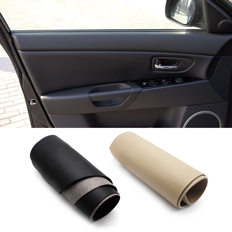For <font><b>Mazda</b></font> <font><b>3</b></font> <font><b>2004</b></font> 2005 2006 2007 2008 2009 4PCS Interior Microfiber Leather Door Panel Cover Protection Trim image