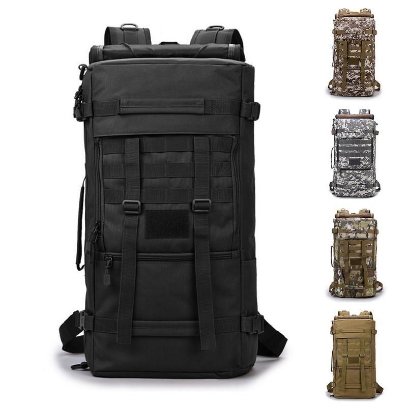 d2335abbabb7 50L тактический военный рюкзак Пеший Туризм спортивный горы открытый рюкзак  Для мужчин альпинизм сумка рюкзак