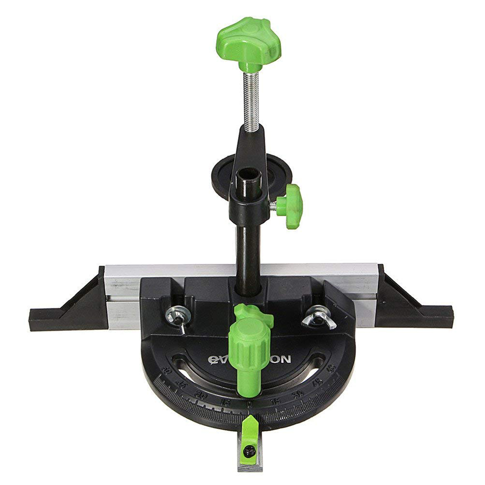 HHO Woodworking DIY Carpenter Tool Accessories Miter Gauge Kit With Adjustable Flip Stop Angle Table Saw Pusher