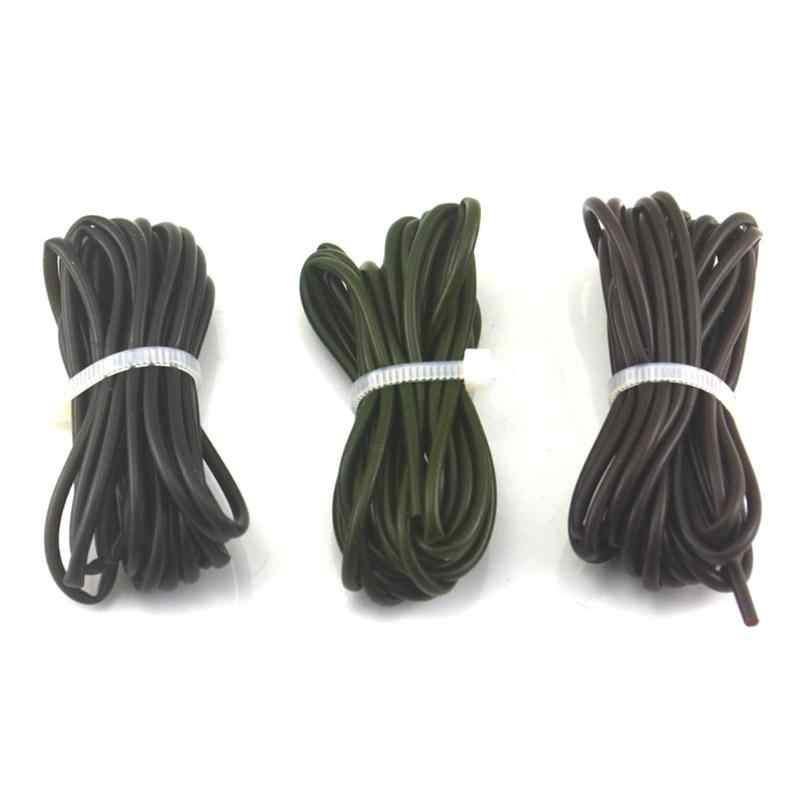 3pcs 1m Carp Fishing Silicone Rig Sleeves Soft Carp  Fishing Accessories Pesca Rigs Tube for Carp Tool Black Green Coffee New