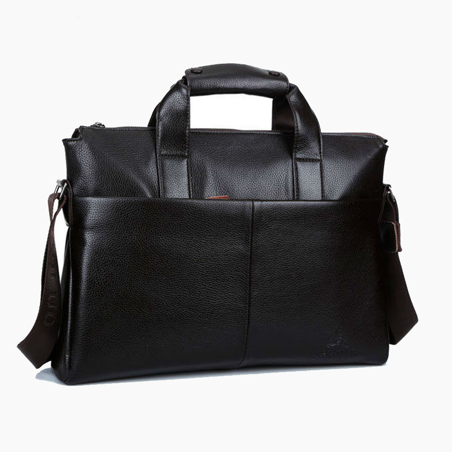 Business Men Briefcase Genuine Cowhide Leather Handbags Tote Men Black Brown Messenger Bags Men's Shoulder Laptop Crossbody Bags