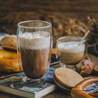 Slyvia bodón diseño de vidrio de doble pared cerveza jarra vaso de vino té jugo de aislamiento Latte taza de café Anti-escald Tazas Para Cafe Vidro