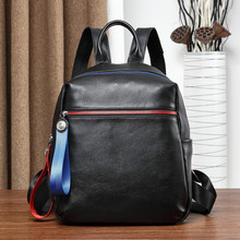 цены New Arrival Women Backpack 100% Genuine Leather Ladies Travel Bags Preppy Style Schoolbags For Girls Knapsack Holiday