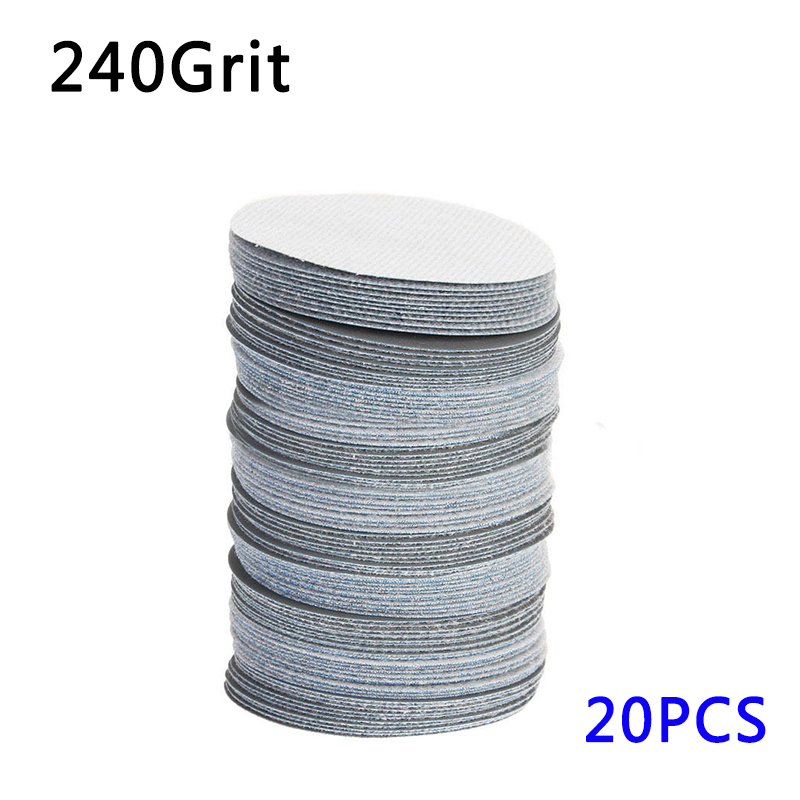 20pcs 75mm Polishing Sander Discs Sandpapers Sanding 40-3000 Grit Sandpaper Set