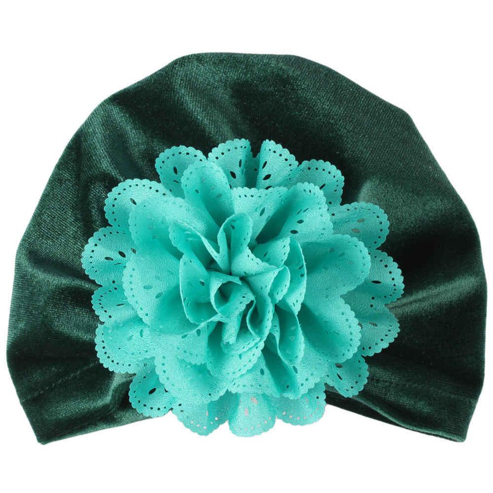Emmababy 2019 แฟชั่นทารกแรกเกิดเด็กวัยหัดเดินเด็กสาว Turban หมวกผ้าฝ้าย Beanie หมวกฤดูหนาวหมวกดอกไม้