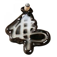 Ceramic Backflow Incense Burner Rockery Smoke Waterfall Stick Incense Holder Incense Crafts Use In Home Office Teahouse Temple creative fly dragon incense burner bunker smoke waterfall incense burner incense cone sticks holder use in home office teahouse