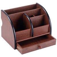Bureau en bois de luxe organisateur Bureau Bureau porte-stylo trieur en bois avec tiroir