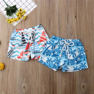 Shorts Beachwear Boy Swimwear Elastic-Waist Swimming Baby-Boys Summer Kid Hawaiian Holiday