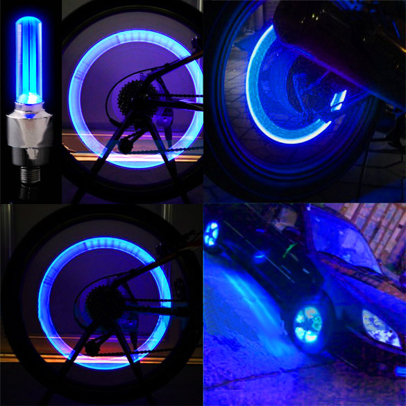 2 Pcs LED Bike Wheel Lights With Battery Pre-installed Bicycle Wheel Spoke For Cycling Racing BHD2