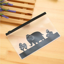 Ellen Brook 1 Piece Korea Fashion Stationery Lovely Cute Kawaii Animals Creative PVC Pencil Receive Bag School Office Supplies(China)