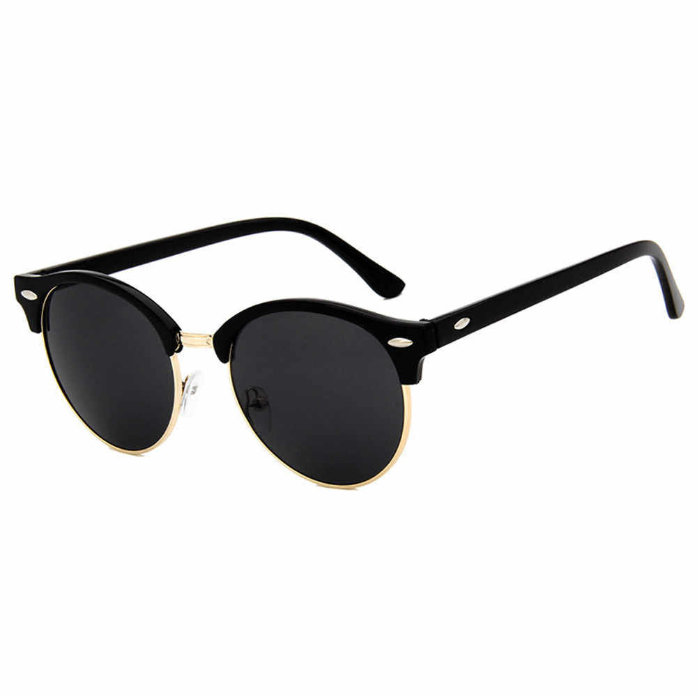 241ac158fa ... Star Style Sunglasses Men Women Brand Designer Club Round Glasses  Classic Sun glasses Driving Semi Rimless ...