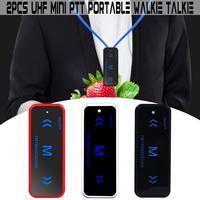2pcs Leixen VV 108 Mini Portable Walkie Talkie Ham Two Way Radio Transceiver UHF 400 480MHz with USB Power Supply Earpieces