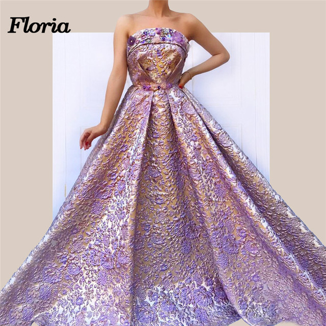 2018 Elegant Arabic Dubai Purple Shiny Evening Dresses Robe de soiree Aibye  African Muslim Formal Prom Dress Kaftan Party Gowns cee9f60dab5c