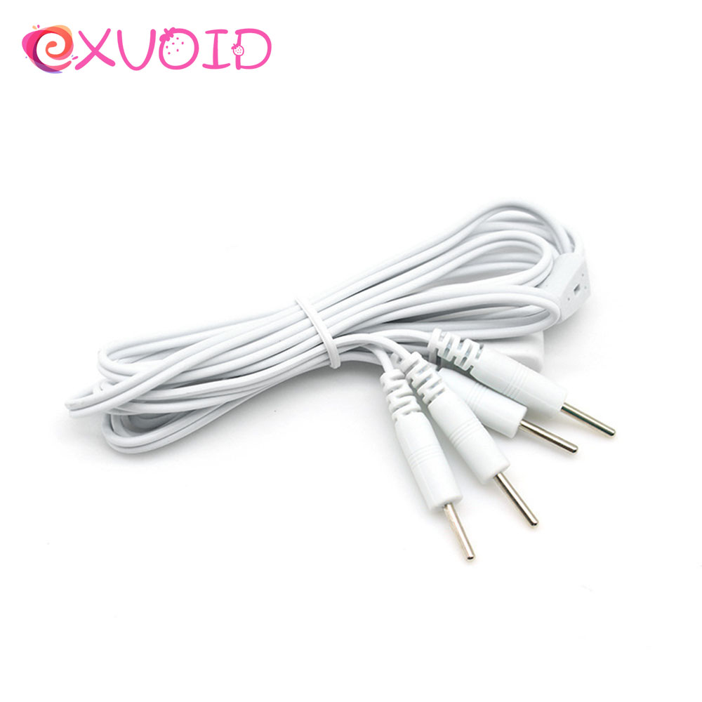 EXVOID Electric <font><b>Shock</b></font> Accessories 4 Pin Wire <font><b>Electro</b></font> Stimulation <font><b>Cable</b></font> Therapy Massager Medical Themed <font><b>Toys</b></font> <font><b>Sex</b></font> <font><b>Toys</b></font> for Couples image