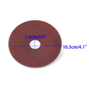 """Image 2 - * 10,5*3,2*22mm papel de lija para pulido de disco de la rueda para afilador de motosierra de paso de 325 de 3/8 """"de la cadena"""