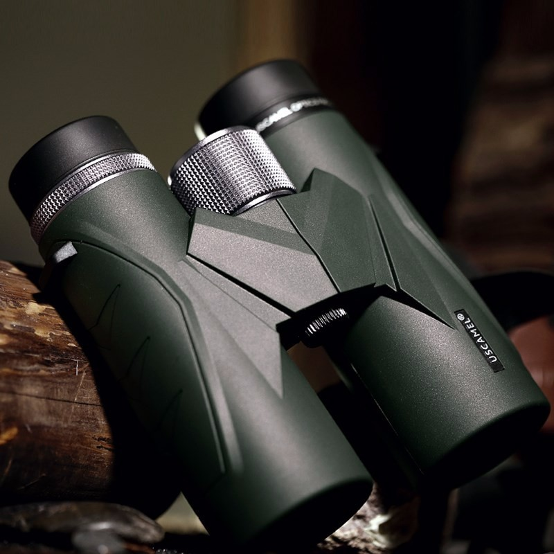 USCAMEL 8x42 Compact Binoculars For Bird Watching Bak4 Nitrogen Filled Waterproof Telescope For Travelling Hunting (Army Green)-in Monocular/Binoculars from Sports & Entertainment    3