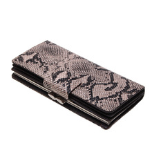 Купить с кэшбэком Brand Long Women Wallets Snake Split Leather Wallet Female Serpentine Hasp Clutch Coin Purse Ladies Leather Card Holder Women