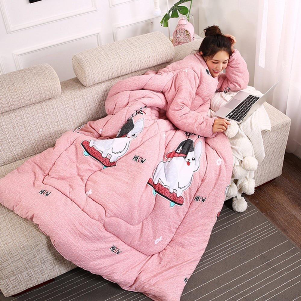 Couverture douce chaude de Slacker de couverture de coton sur le canapé-lit pour les enfants adultes jettent des couvertures de jet de sommeil d'enveloppe pour le salon