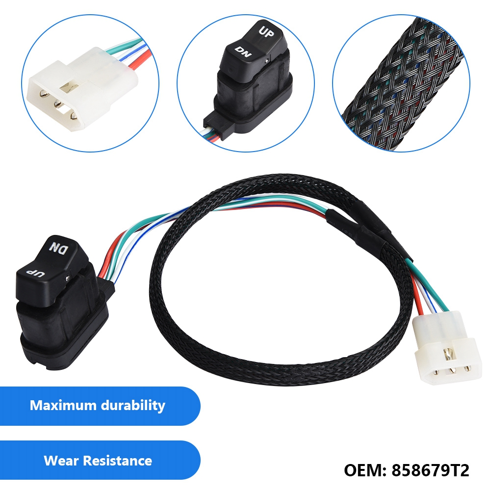 US $15 85 22% OFF|858679T2 Car Remote Side Control Up and Down Lift Trim  Switch for Mercury Outboard Box button start stop car accessories New-in  Car