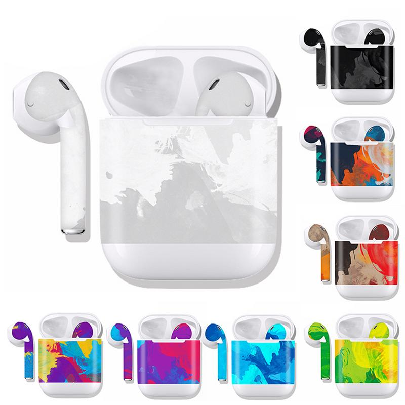 Sticker For Airpods Customized Film Wireless Bluetooth Headset All Cover Protective Decals Anti Scratch Sticking Waterproof