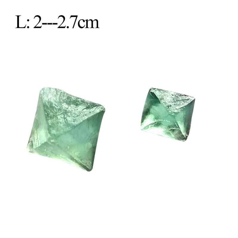 טבעי Octahedral צבעוני פלואוריט גלם חן קישוט מקל קישוט אבן ירוק סגול אוסף אבנים גבישי מינרלים