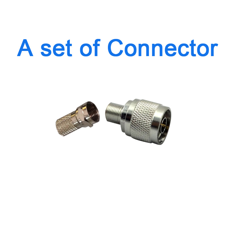 1 Set N-Type N Male Plug To F Female Jack RF Coaxial Adapter N Male Connector For GSM DCS 3G Repeater Booster Amplifier