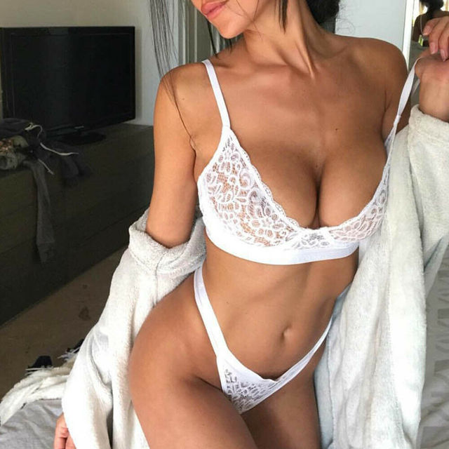 Lace Bralette with Matching Thong 3