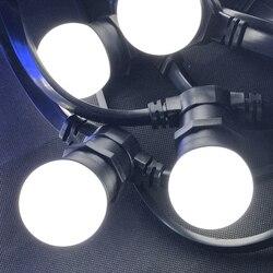 10 متر/32.8ft E27 شقة اكليل أضواء حزام التجارية الباحة ضوء سترينجر زينة عيد الميلاد E27 مصباح حامل سلسلة ديكور في الهواء الطلق
