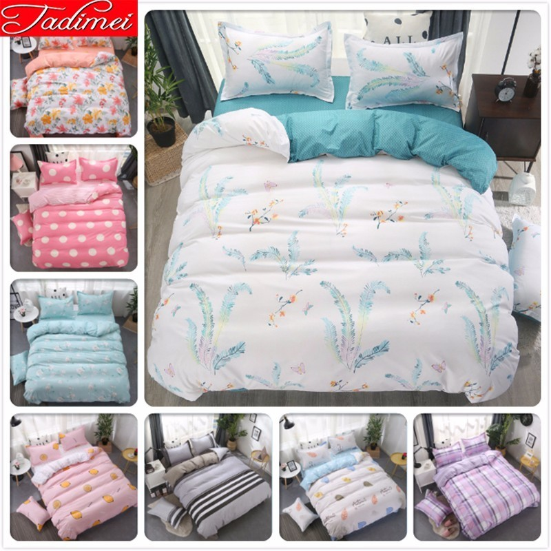 Double Side Duvet Cover Bedding Set Adult Kids Child Soft Cotton Bed Linen Single Full Queen King Size Bedspread 150x200 220x240