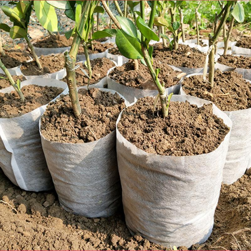 Us 0 7 43 Off Diffe Sizes Biodegradable Non Woven Nursery Bags Plant Grow Fabric Seedling Pots Eco Friendly Aeration Planting 40 In