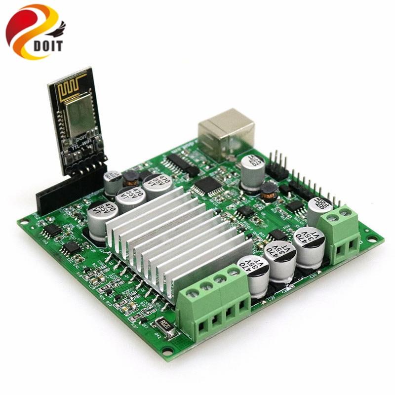 DOIT Kit de carte de développement Nodemcu de grande puissance basé sur ESP8266 pour le contrôle 2wd/4wd Robot réservoir voiture châssis bricolage RC jouet Kit