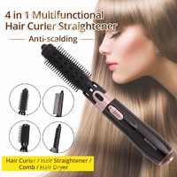 HOT 4 In 1 Professionele Haar Styling Werkzeuge Multifunktionale Haarglätter Curler Air Kamm Einen Schritt Haar Trockner und Volumizer