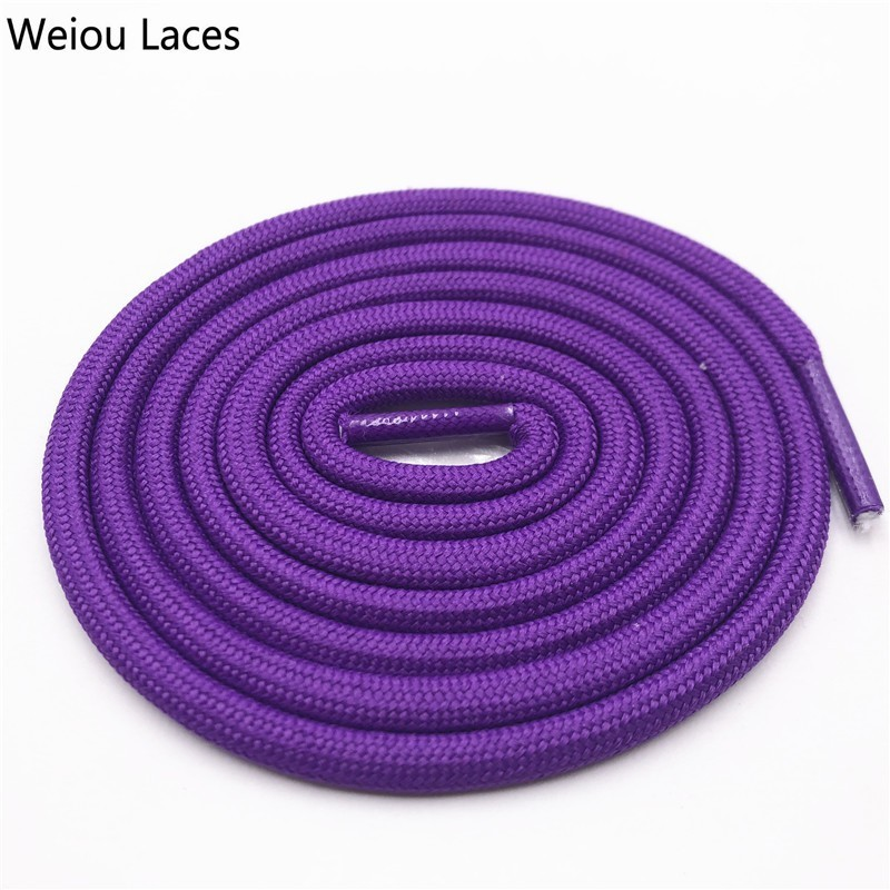 Weiou 0.5cm Round Sports Shoelace Polyester Thick Hiking Bootlaces Clothing Rope Outdoor Climbing Shoe Laces For Boots Kids Mens