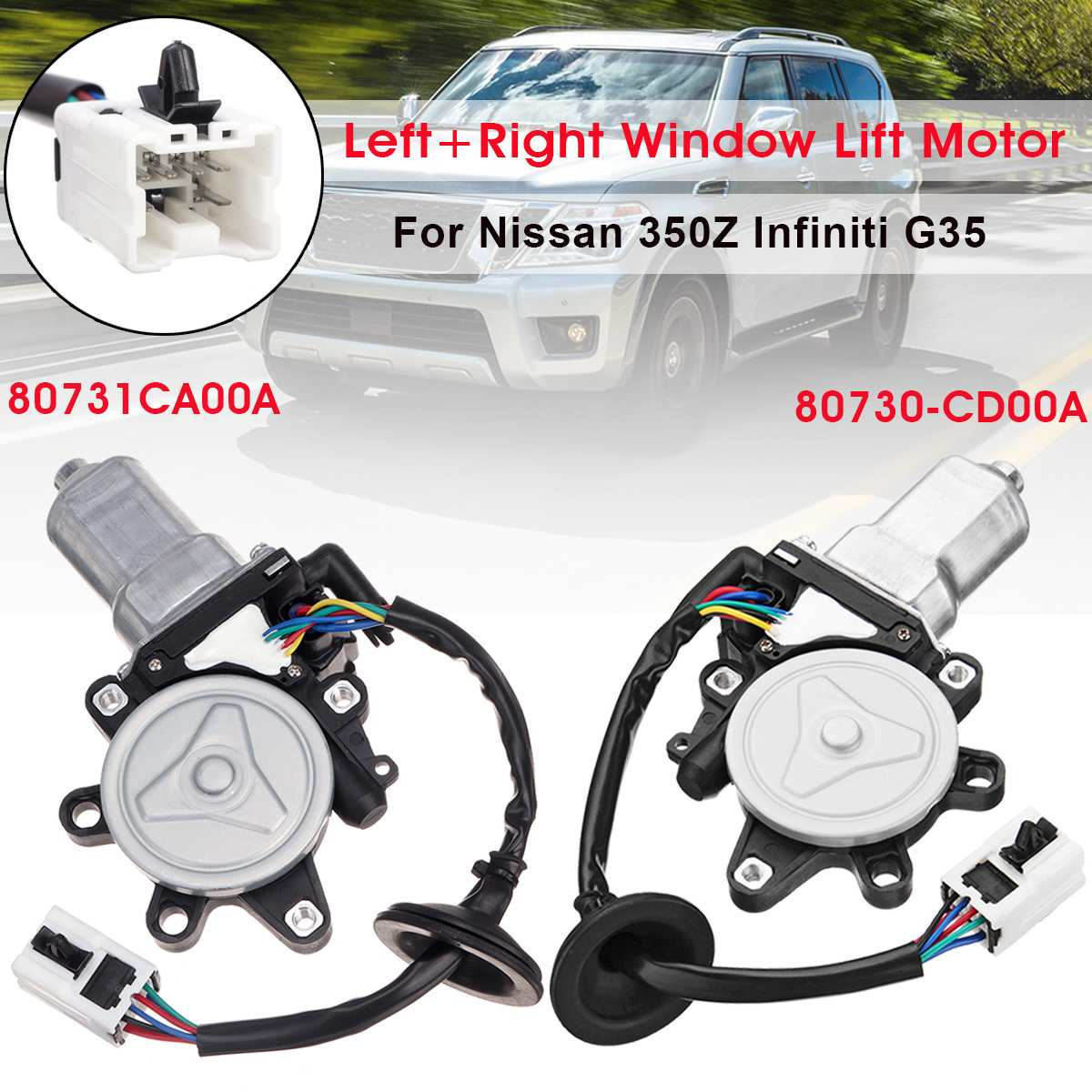 Power Front Left Right Driver Side LH Car Window Motor for Nissan Murano 2003 2004 2005 2006 2007 80731CA00APower Front Left Right Driver Side LH Car Window Motor for Nissan Murano 2003 2004 2005 2006 2007 80731CA00A