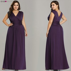 Image 4 - Plus rozmiar sukienki druhen kiedykolwiek dość EZ07661SB dekolt bez rękawów szyfonowa sukienka na wesele tanie długie Vestido Madrinha