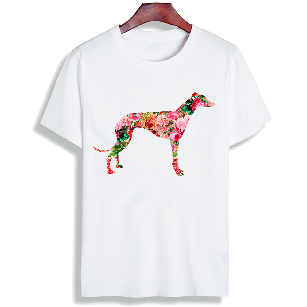 New 100% Cotton Tshirt Greyhound Dog Minimalist Quotes Print Short Sleeve Tops & Tees Fashion Casual Unisex Couple T Shirt